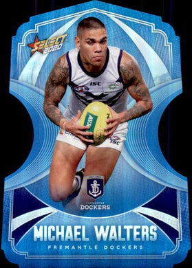 Michael Walters, Ice Blue Diecuts, 2020 Select AFL Footy Stars