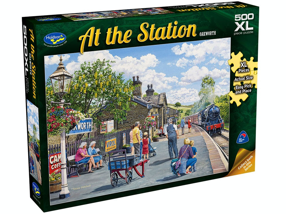 AT THE STATION, Oakworth, 500XL Piece Jigsaw Puzzle