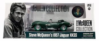 1956 Jaguar XKSS with Steve McQueen Figure, 1:43 Diecast Vehicle