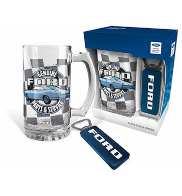 Ford Genuine Parts & Service Stein and Magnetic Opener Gift Set