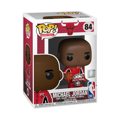 NBA: Bulls - Michael Jordan Red Warm-Ups US Exclusive Pop! Vinyl [RS]