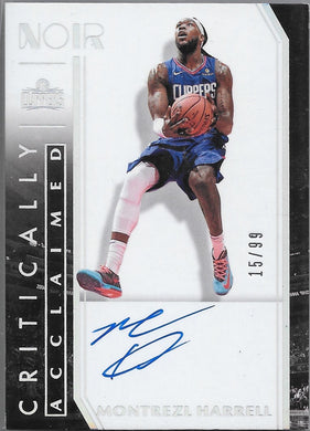 Montrezl Harrell, Critically Acclaimed Signature, 2019-20 Panini Noir Basketball NBA