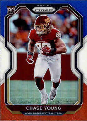 Chase Young, RC, Red White Blue Prizm, 2020 Panini Prizm Football NFL