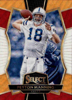 Peyton Manning, #156, Orange, White, Red Tri-Colour Prizm, 2016 Panini Select Football NFL