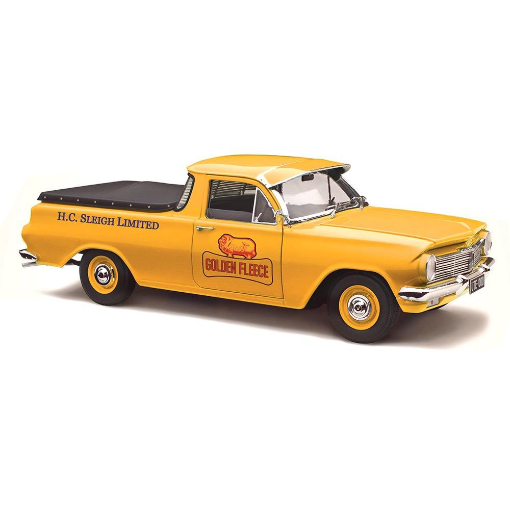 Classic Carlectables Holden EH Utility, Heritage Collection, Golden Fleece, 1:18 Diecast Model Car
