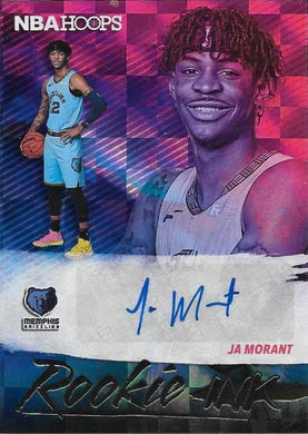 JA Morant, Rookie Ink Signature, 2019-20 Panini Hoops Basketball NBA