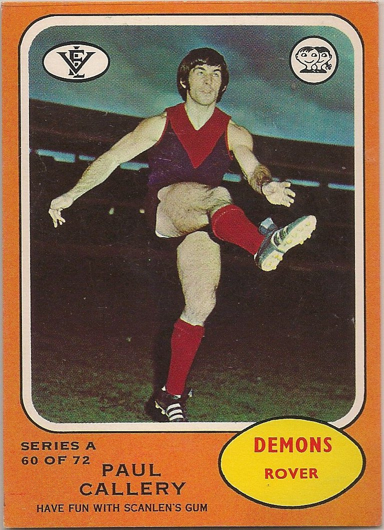 1973 Scanlens VFL Series A, Paul Callery