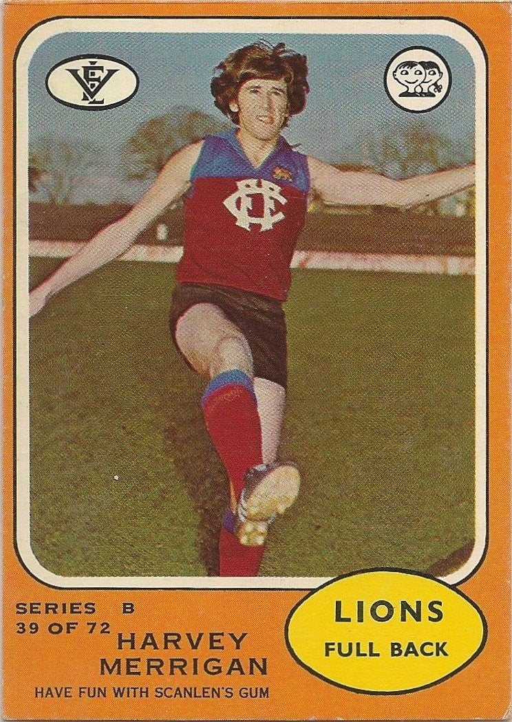 1973 Scanlens VFL Series B, Harvey Merrigan
