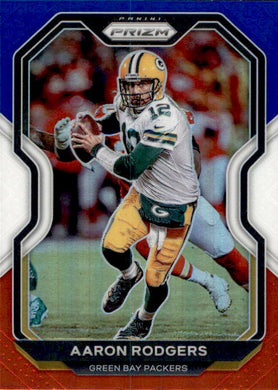 Aaron Rodgers, Red White Blue Prizm, 2020 Panini Prizm Football NFL
