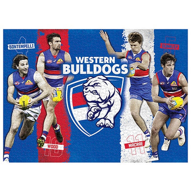 Western Bulldogs, 4 Player, 1000 Piece Jigsaw Puzzle