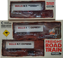 Highway Replicas 12013 Kenworth K100 Bulls NT Express Freight Road Train PLUS Trailer with Dolly, 1:64 Diecast Vehicle
