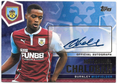 #1/120, Nathaniel Chalobah, Official Autograph, 2014-15 Topps Premier Club Soccer