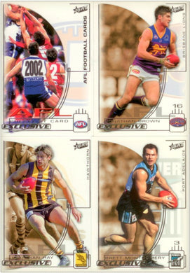 2002 Select AFL Exclusive Trading Card Base Set of 220 cards