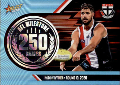 Paddy Ryder, 250 Games Milestone, 2021 Select AFL Footy Stars