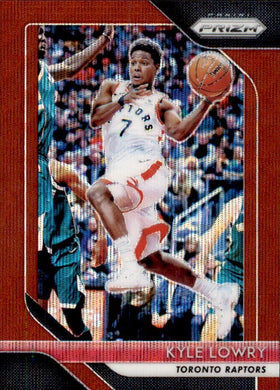 Kyle Lowry, Red Prizm, 2018-19 Panini Prizm Basketball NBA