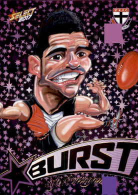Leigh Montagna, Purple Starburst Caricatures, 2017 Select AFL Stars