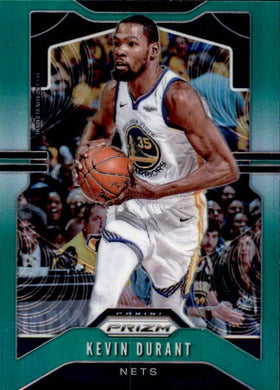Kevin Durant, 2019-20 Prizm Basketball GREEN Refractor