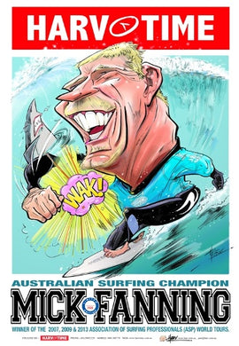 Mick Fanning Surfing Harv Time Poster