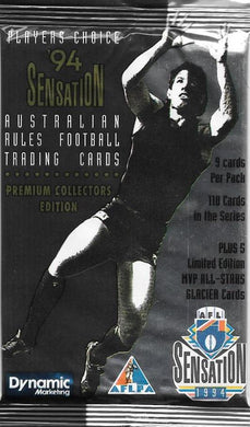 1994 AFL Sensations Pack of Cards