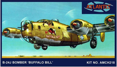 B-24J Bomber Buffalo Bill with Swivel Stand Plastic Kit, 1:92 Scale Model Kit