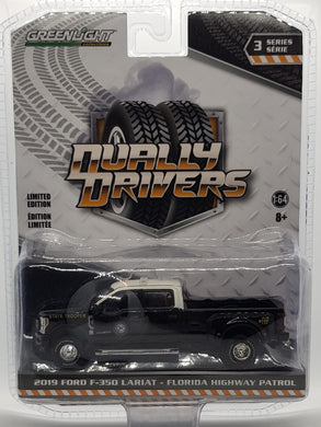 2019 Ford F-350 Lariat - Florida Highway Patrol, Dually Drivers S3, 1:64 Diecast Vehicle