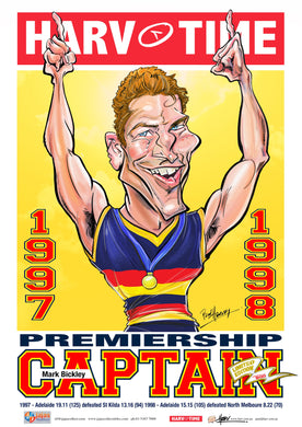 Mark Bickley, Premiership Captain, Harv Time Poster