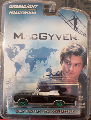 Green Machine, MacGyver, 1967 Pontiac GTO Convertible, 1:64 Diecast Vehicle