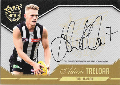 Adam Treloar, Certified Signature, 2017 Select AFL Certified