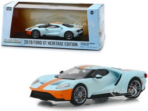 2019 Ford GT Heritage Edition, Gulf Oil, 1:43 Diecast Vehicle