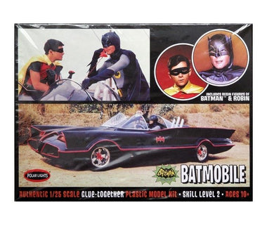 1966 BATMOBILE with Batman & Robin Figures, 1:25 Scale  Plastic Model Kit