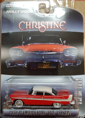 Evil Christine 1958 Plymouth Fury with Blacked Out Windows, 1:64 Diecast Vehicle