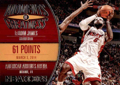 LeBron James, Moments of Greatness, 2014-15 Panini Hoops Basketball NBA