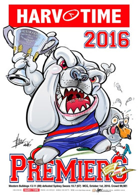 Western Bulldogs, 2016 Premiers, Harv Time Poster