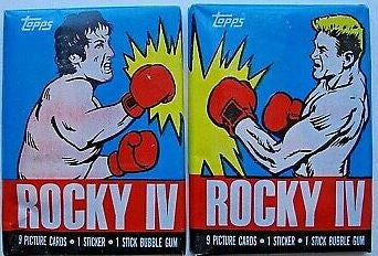 1985 Topps Rocky IV Pack of Cards