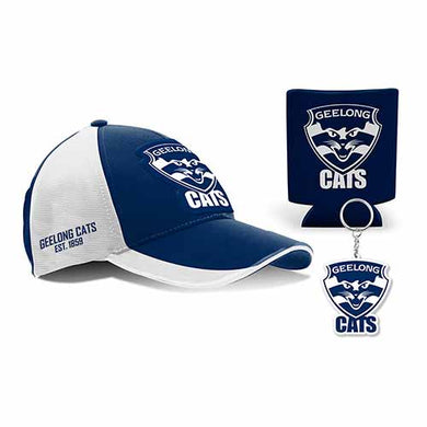 Geelong Cats Cap, Can Cooler & Keyring Gift Box