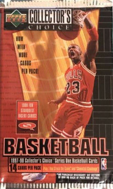 1997-98 Upper Deck Collectors Choice Basketball Series 1 Pack of cards
