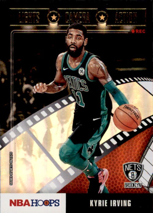 Kyrie Irving, Gold, Lights Camera Action, 2019-20 Panini Hoops Basketball NBA