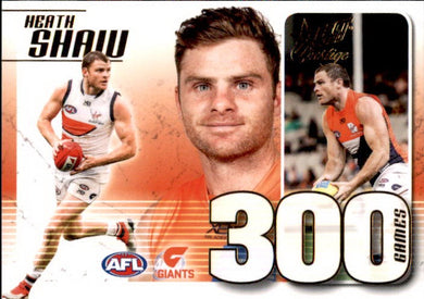 Heath Shaw, 300 Game Case Card, 2020 Select AFL PRESTIGE Footy Stars