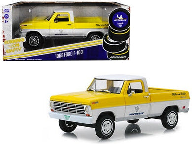 1968 Ford F-100 Truck, Michelin, Running on Empty, 1:24 Diecast Vehicle