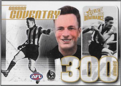 Gordon Coventry, 300 Game Case Card, 2019 Select AFL Dominance