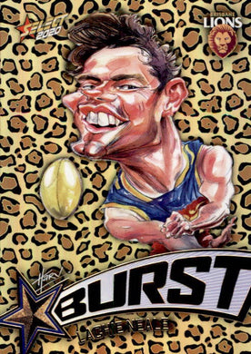 Lachie Neale, Leopard Starburst, 2020 Select AFL Footy Stars