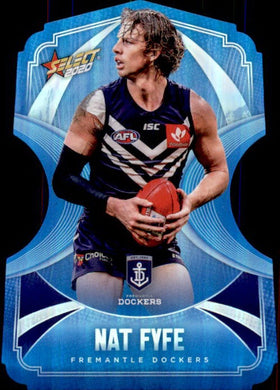 Nat Fyfe, Ice Blue Diecuts, 2020 Select AFL Footy Stars