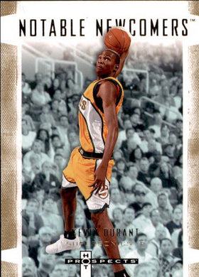 Kevin Durant, Notable Newcomers, 2007-08 Fleer Hot Prospects Basketball NBA