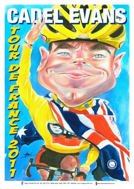 Cadel Evens, Tour de France 2011, Harv Time Poster