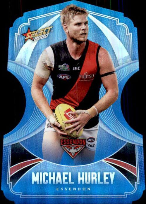 Michael Hurley, Ice Blue Diecuts, 2020 Select AFL Footy Stars