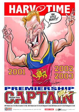 Michael Voss, Premiership Captain, Harv Time Poster
