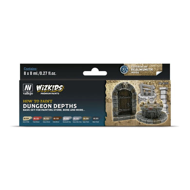 Wizkids Premium Paint Set by Vallejo: Dungeon Depths