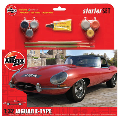 AIRFIX STARTER SET MED E TYPE JAGUAR 1:32 Model Kit