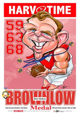 Bob Skilton, Triple Brownlow, Harv Time Poster