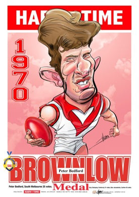 Peter Bedford, 1970 Brownlow, Harv Time Poster